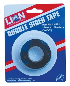 LION DOUBLE SIDED TAPE, 19MM X 1.5M