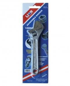 LION ADJUSTABLE WRENCH 150MM (6'')