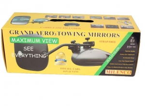 MILENCO GRAND AERO 3 EXTRA WIDE TOWING MIRRORS - FLAT GLASS (NON-CONVEX) - PAIR