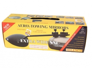 MILENCO AERO 3 WIDE TOWING MIRRORS - PAIR