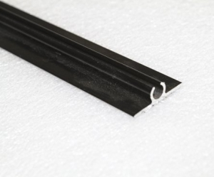 DOUBLE ROPE TRACK BLACK 6.5M MILL FINISH