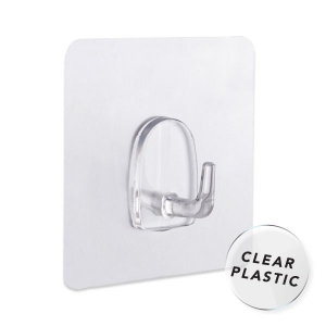 NALEON PEEL 'N' STICK CLEAR HOOK 4PK