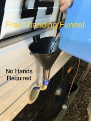 FREE STANDING FUNNEL BY STAND AT EASE