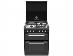 THETFORD K1520 COOKER DUAL FUEL FAN FORCED OVEN 3 GAS + 1 ELEC COOKTOP + GRILL