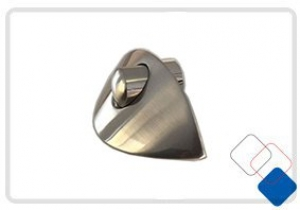 CABINET LOCK SHELL SATIN NICKEL