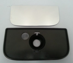CLEARVIEW CONVEX MIRROR KIT INC GLASS & PLASTIC BACKING PLATE RHS
