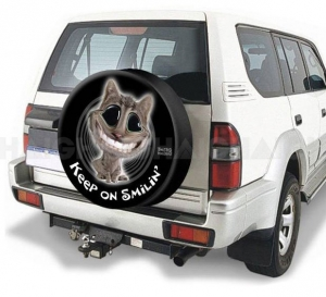 HAIGH TWISTED WHISKERS KEEP ON SMILING 4WD SPARE WHEEL COVER  29""