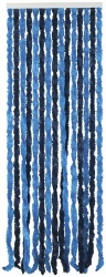 TWO TONE BLUE CHENILLE DOOR CURTAIN
