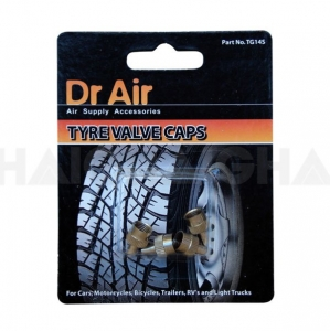 TYRE VALVE CAPS SLOTTED S/METAL