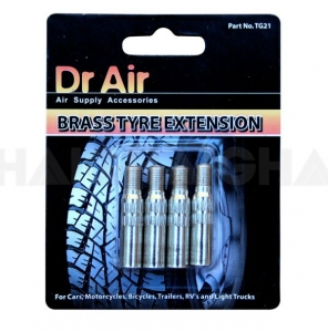 TYRE VALVE EXTENSION BRASS 4PC 32MM