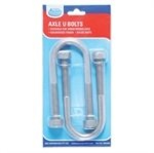 ARK GAL U-BOLTS 39X120MM BLISTER OF 2 WITH NYLOCS
