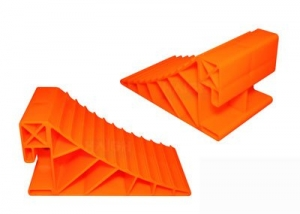 HAIGH WHEEL CHOCK SMALL ORANGE PAIR